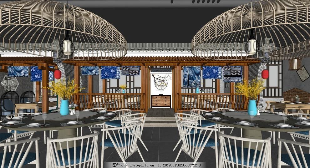渔庄餐厅室内设计