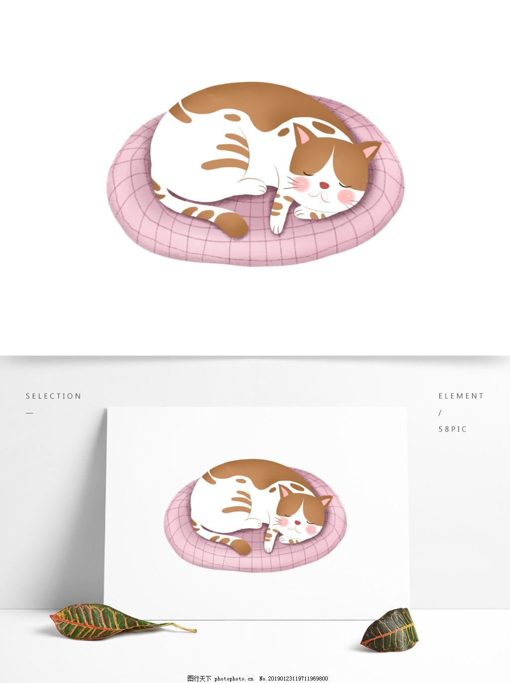 励志小人矢量图标素材_可爱卡通猫咪图案元素图片_装饰图案_设计元素-图行天下素材网