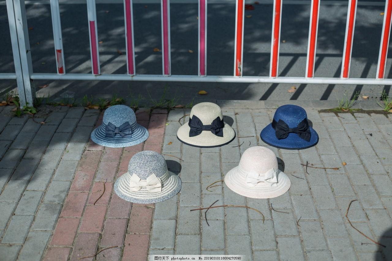韩版女士蝴蝶结遮阳帽2,日系,布帽,大沿,遮阳布帽,防晒,沙滩帽