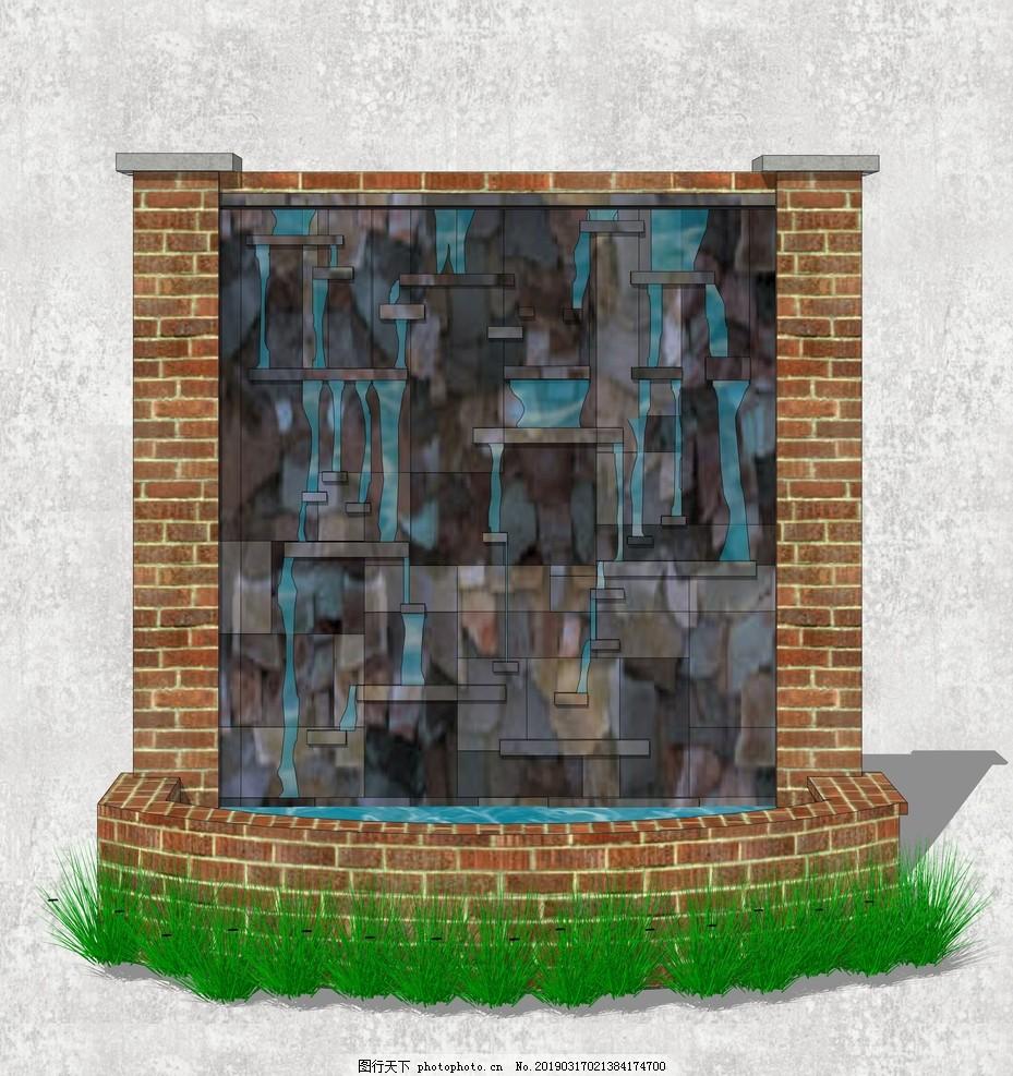 流水景墙,休闲景墙,欧式景墙,喷泉,喷泉景观,欧式喷泉,西式水景