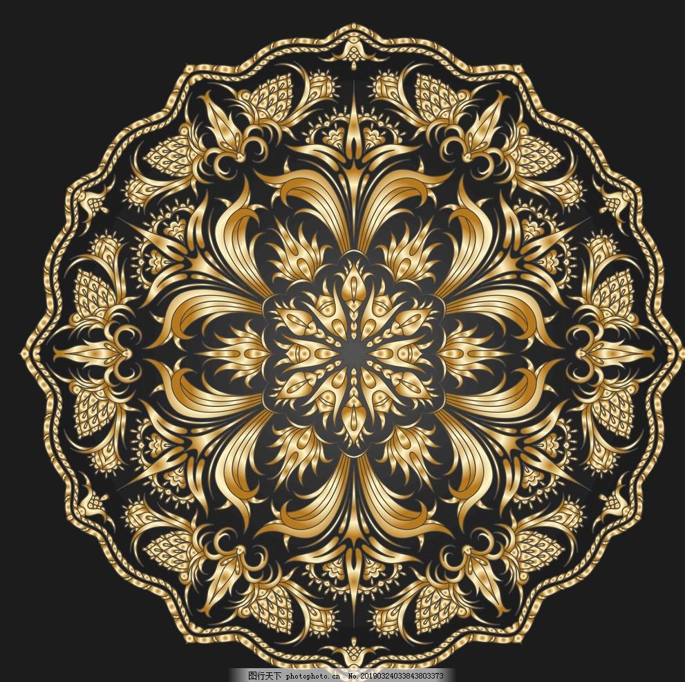 古典花纹,新中式装饰画,创意,艺术,写意,墙画,壁画